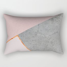 BLUSH GRAY COPPER GEOMETRICAL Rectangular Pillow