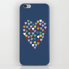 Hearts Heart Navy iPhone Skin