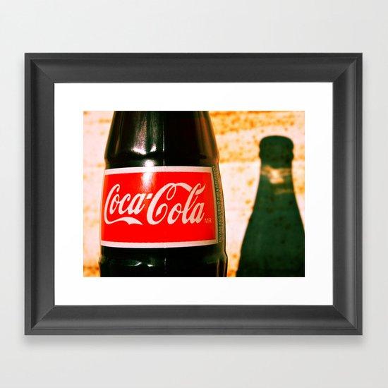 Cola shadow Framed Art Print