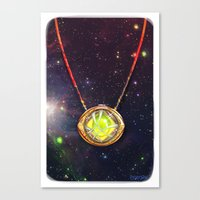 enerjax Canvas Prints featuring Eye of Agamotto by enerjax