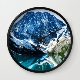 Alpine Lakes Wilderness Colchuck Lake #2  Wall Clock