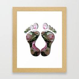 Rosey Feet Framed Art Print
