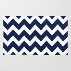 Indigo Navy Blue Chevron