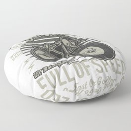 Caferacer Motorcycle Vintage Poster Floor Pillow