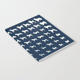 All Dogs (Navy) Notebook