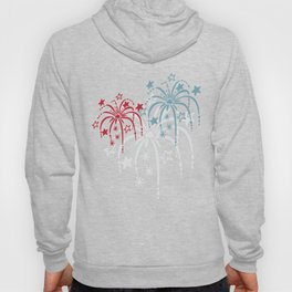 Red White and Blue (light) Fireworks Hoody