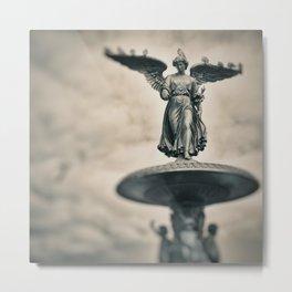 Bethesda Fountain - Angel of The Waters Metal Print