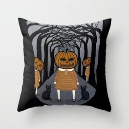 The Pumpkin Girls Throw Pillow