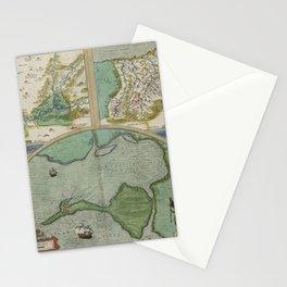 Vintage Map - Ortelius: Theatrum Orbis Terrarum (1606) - Carpetania, Gipuzkoa, Cadiz Stationery Cards