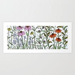 Pollinator Panorama Art Print