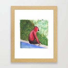 Pondering - Pete Wentz Framed Art Print