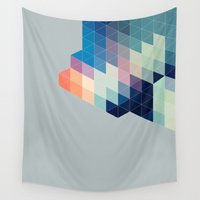 blanket Wall Tapestries featuring Pixel Blanket by Craft and Graft
