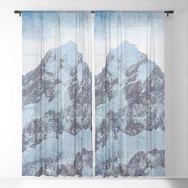 Mount Cook New Zealand Ultra HD Sheer Curtain