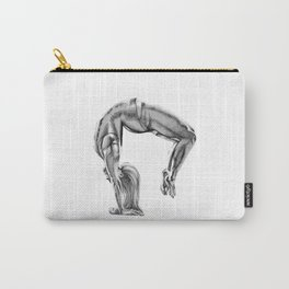 Bend Over Backwards Greyscale Carry-All Pouch