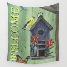 Welcome Goldfinch Wall Tapestry