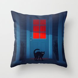 Houselights Throw Pillow
