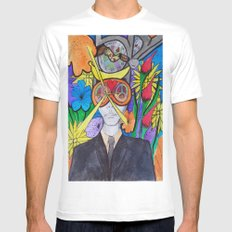 EGO Mens Fitted Tee White MEDIUM