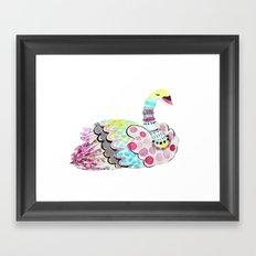 Patterned Swan Framed Art Print