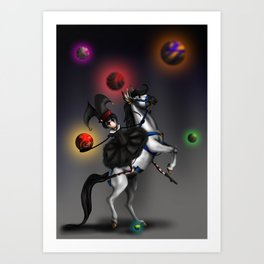 At The Carnivale Art Print