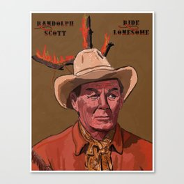 Ride Lonesome Canvas Print