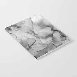 Black and White Marble Ink Abstract Painting Notebook