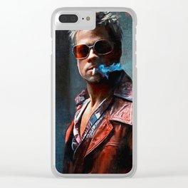Tyler Durden Smoking A Cigarette Clear iPhone Case