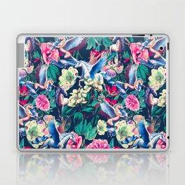Unicorn and Floral Pattern Laptop & iPad Skin