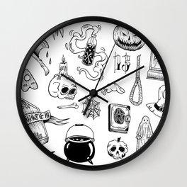 halloween flash Wall Clock