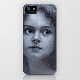 Behind greyness - pencil drawing on paperboard iPhone Case