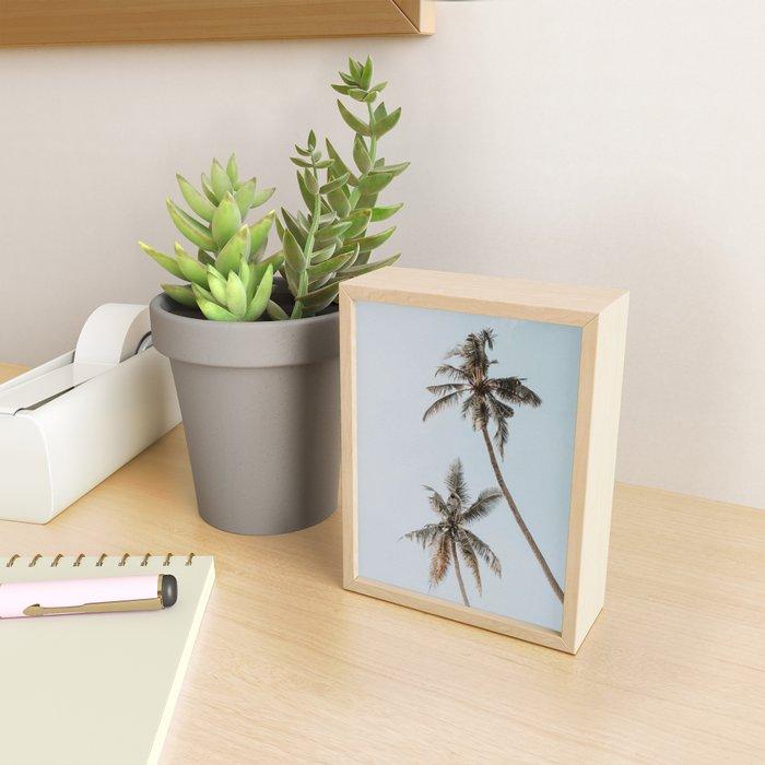 two palm trees Framed Mini Art Print