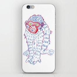 Blue monkey iPhone Skin