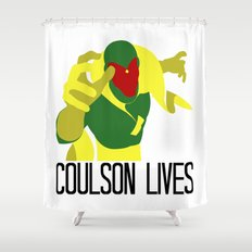 Agent Coulson, My One Good Eye. Shower Curtain