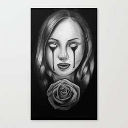 Bloody Rose Canvas Print