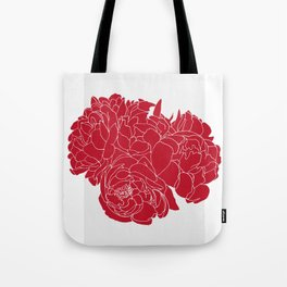Floral Reds Tote Bag