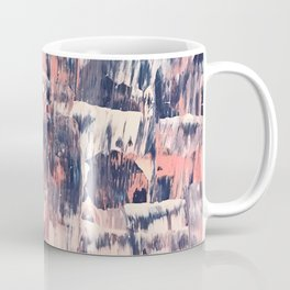 Mirage [2]: a vibrant abstract piece in pinks blues and gold by Alyssa Hamilton Art Coffee Mug