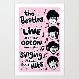Paul, Ringo, George, and John Art Print