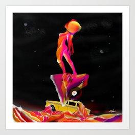 A c i d MND Surfer  Art Print