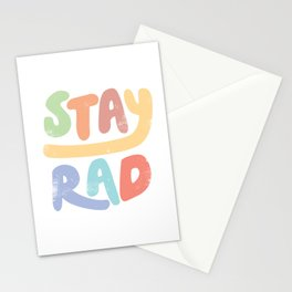 Stay Rad colors Stationery Cards