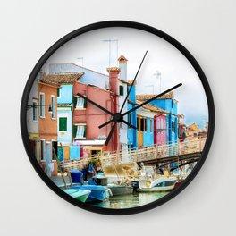 Corte Novello, Burano, Italy Wall Clock