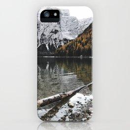 braies lake iPhone Case