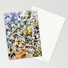 Purple Forum Cut Cookies Strain Resinous Amber Trichomes Dank Buds Close Up Stationery Cards