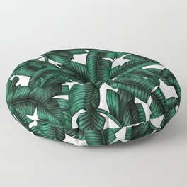 Banana leaves pattern. Floor Pillow