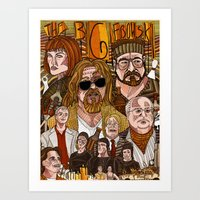 the big lebowski Art Prints featuring The Big Lebowski by David Amblard
