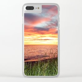 Dawn and the Grass Clear iPhone Case