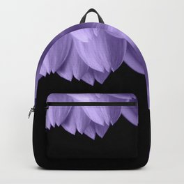 Ultra violet purple flower petals black Backpack