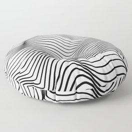 Wave Stripes Curve Floor Pillow