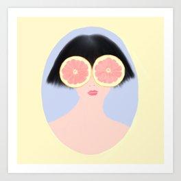 CITRUS & GIRL Art Print
