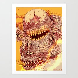 Centipede Demon Art Print