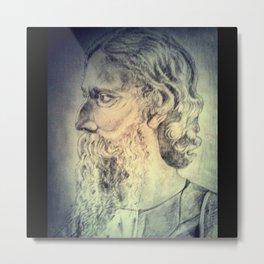Tagore Metal Print