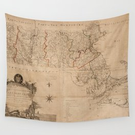 Vintage Map of Massachsuetts (1795) Wall Tapestry